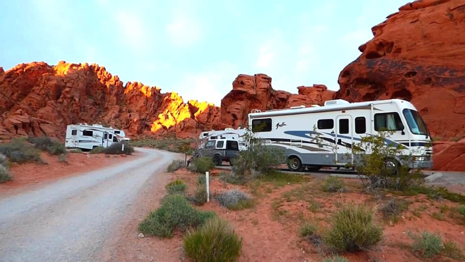 valley of fire dry camping