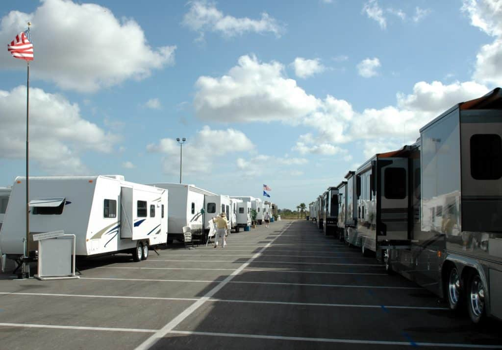 Free overnight parking RVs