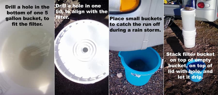 rainwater collection for RV boondocking