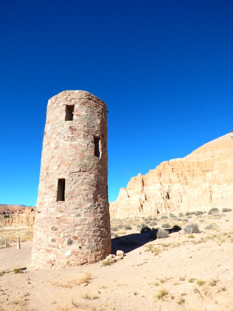 dry camping water tower at cathedral gorge